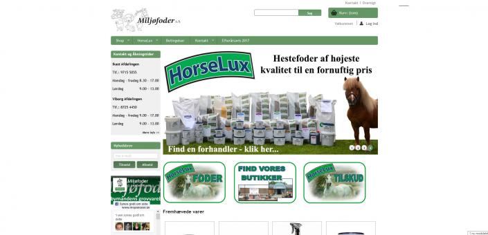 Hestefoder-Plejemidler-Tilskudsfoder-Rideudstyr-Midtjylland-Ikast-Miljøfoder